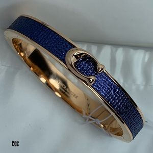 Coach Blue Marina Gold Click Closure Bracelet NWT